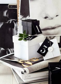 Christmas inspiration—love gift boxes—so elegant with clean lines❣