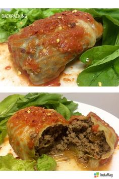 Charuto de repolho low carb --- • 500 g Carne moída de patinho • 5 folhas de repolho • pimentão vermelho e amarelo em cubinhos • tomate ...