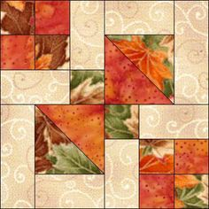 Sewing Block Quilts Hayes Corner [I've seen other examples with the blocks are separately with sashing and corner stones for a totally different look. Quilt Block Patterns, Pattern Blocks, Quilt Blocks, Quilting Tutorials, Quilting Projects, Quilting Designs, Patch Quilt, Fall Quilts, Square Quilt