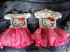 L Girls 10-12 Orange /& Black HELLO KITTY Halloween Shirt-NEW-Top-Pumpkin-Bow