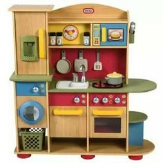 Little Tikes Wooden Kitchen 89 99 90 Rrp 170 48 Deal On The Web Pinterest