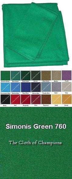 Other Billiards 1292: 8 Simonis 760 Billiard Pool Table Felt Precut Cloth  Kit  U003e