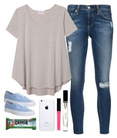 """""""Untitled #266"""" by mags07 ❤ liked on Polyvore featuring AG Adriano Goldschmied, Olive + Oak, Vans, Bobbi Brown Cosmetics and Butter London"""