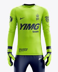 Men's Full Soccer Goalkeeper Kit with Pants mockup (Front View) in Apparel Mockups on Yellow Images Object Mockups Soccer Kits, Football Kits, Football Design, Rugby Kit, Goalkeeper Kits, Mandarin Collar Shirt, Leg Sleeves, Shirt Mockup, Pants Outfit
