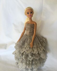 """Bella Doll Couture on Instagram: """"Lace Evening Wear for Barbie #belladollcouture #helloprettysa #barbieeveninggown"""" Girls Dresses, Flower Girl Dresses, Evening Gowns, Barbie, Couture, Dolls, Wedding Dresses, Lace, How To Wear"""