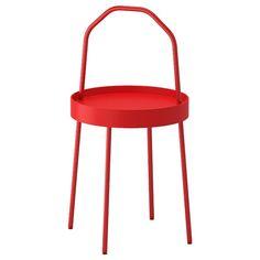 BURVIK Table d'appoint - rouge - IKEA