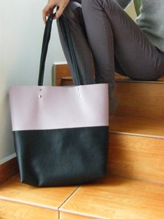 Your place to buy and sell all things handmade Brown Leather Totes, Grey Leather, Italian Leather, Wool Felt, Lilac, Tote Bag, Facebook, Classic, Pictures