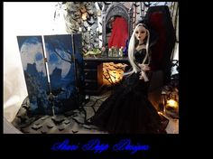 Gothic Vanity Set for Evangeline Ghastly or 19 by ShariDeppDesigns, $199.00