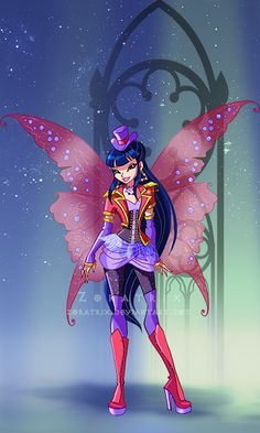 Winx Club Season 6 Episode 12 Shimmer In The Shadows : Musa's Goth Outfit