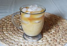 ice coffee @ home = salted caramel
