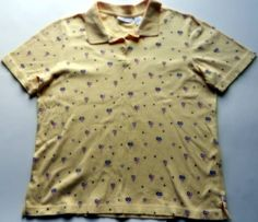Croft & Barrow Womens Sz XL ShirtTop Yellow Red White Blue Heart Flag Patriotic #CroftBarrow #KnitTop #Casual
