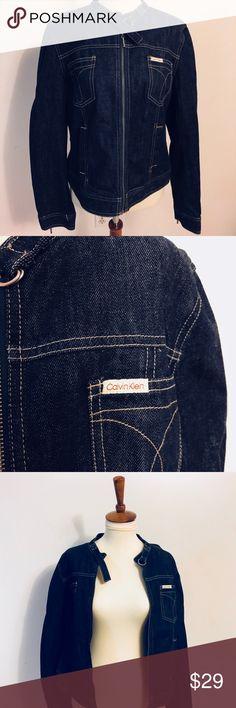 Calvin Klein Jeans Moto Jacket Calvin Klein Jeans Moto Dark Denim Jacket. Excellent Condition! No Wear. Calvin Klein Jeans Jackets & Coats Jean Jackets