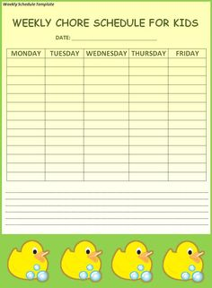 Work Schedule TemplateWeekly Schedule  All Form Templates  Work