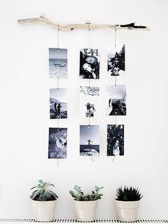 Make a photo wall yourself: ideas for a creative wall design Fotowand selber machen: Ideen für eine kreative Wandgestaltung Make a photo wall yourself: ideas for a creative wall design Cheap Home Decor, Diy Home Decor, Creative Walls, Creative Design, Creative Ideas, Home And Deco, Photo Displays, Display Photos, Diy Wall