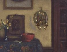 Tisdall was born in Galway, Ireland in 1861 and rose to prominence as an artist, for his intimate interior and still life paintings. Red Bowl, Gallery Of Modern Art, Irish Art, List Of Artists, London Art, Teaching Art, Art School, Painting, Oil