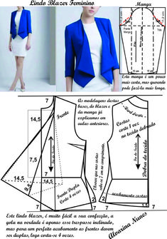 Best 10 ENG➡️to draft the pattern of this dress, start from a basic block with darts dart manipulation of the front bodic – SkillOfKing.Com - Her Crochet Dress Sewing Patterns, Blouse Patterns, Clothing Patterns, Blouse Designs, Peplum Outfit, Blazer Pattern, Jacket Pattern, Sewing Collars, Costura Fashion
