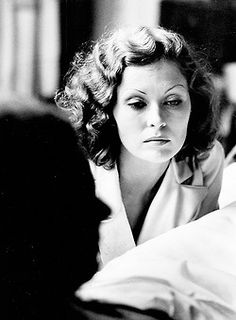 "Faye Dunaway on the set of ""Chinatown"" with Jack Nicholson (1974) Dir. R. Polanski"