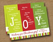 """Christmas Card DIY PRINTABLE """"Immanuel - God With Us"""" Christmas Tree Typography Scripture Bible Verse Card (Design 1 of 2). $12.00, via Etsy."""