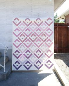 Purple Cabin Valley quilt by Cotton and Joy - a modern take on the classic log cabin quilt Purple Quilts, Modern Quilt Patterns, Kona Cotton, Longarm Quilting, Favorite Color, Cabin, Joy, Classic, Prints