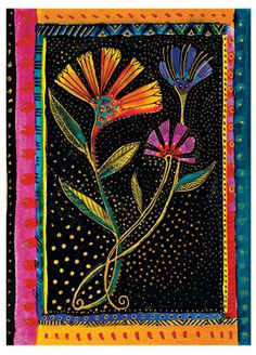 """""""Nodding Blooms""""; part of @Paperblanks' Laurel Burch Playful Creations collection of writing journals"""