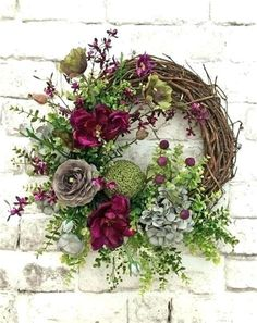 spring wreath for front door mesmerizing beautiful front door wreath ideas front door wreath silk floral wreath grapevine wreath spring wreath spring wreaths for your front door Wreath Crafts, Diy Wreath, Grapevine Wreath, Wreath Fall, Wreath Ideas, Green Wreath, Wreath Burlap, Monogram Wreath, Diy Crafts