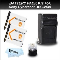 Clearmax 2 Battery and Charger Kit for Sony Cybershot DSC-WX150 DSC-TX10 DSC-W510 DSC-W530 DSC-W570 DSC-W560 DSC-WX9 DSC-T110 DSC-TX100V DSC-TX55 DSC-WX30 Digital Camera Includes 2 Replacement Sony NP-BN1 Extended Rechargeable Batteries + Travel Charger + Cap Tripod + Clearmax Microfiber Cloth by ClearMaxTM. $19.95. 2 NPBN1 Lithium-ion N Type Rechargeable Batteries Pack for Sony Cyber Shot Digital Cameras  High energy density - potential for yet higher capacities. Does ...