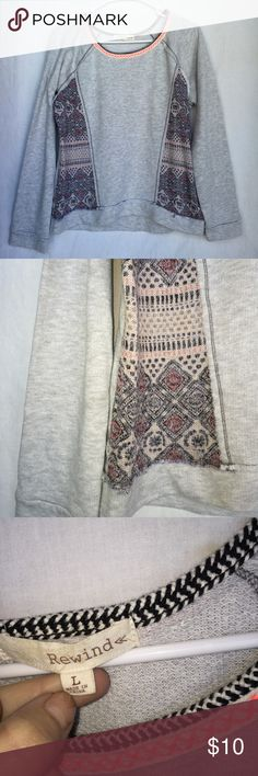 Rewind Long Sleeve Shirt Sweater Size L Forever 21 Tops Tees - Long Sleeve