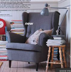 Ikea wingback chair - need one for each side of the fireplace