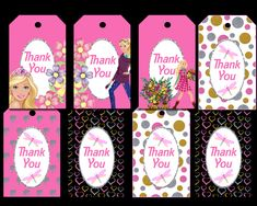 Barbie Tags Party Printable Barbie Cupcakes, Cupcake Wrappers, Party Printables, Alphabet, Banner, Tags, Creative, Banner Stands, Alpha Bet