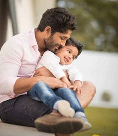 Cute Allu Ayaan with Allu Arjun