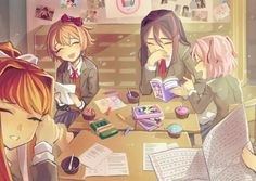 """There IS happiness in the literature club. I will make sure of it this time!"" : DDLC"