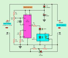 This is how to modify old Lead-acid battery charger or convert power supply to battery charger in automatic. To protect over charging by and power SCR Lead Acid Battery Charger, Battery Charger Circuit, Automatic Battery Charger, Universal Battery Charger, Solar Charger, Cheap Electricity, Electronics Basics, Electronics Projects, Electrical Circuit Diagram