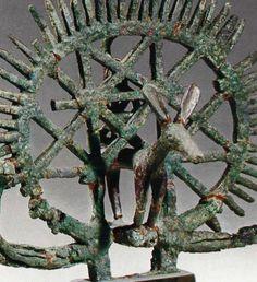 Hittite, bronze ceremonial symbol, Alacahöyük 2200-2000 BC, Museum of Anatolian Civilisations, Ankara
