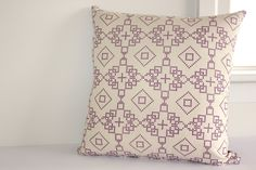 Geometric Print Cushion Cover // Pick Your Colour // Decorative Throw Pillow // Pillow Cover // Chair Cushion // Gifts. $25.00, via Etsy.  Color Trend 2013 African Violet