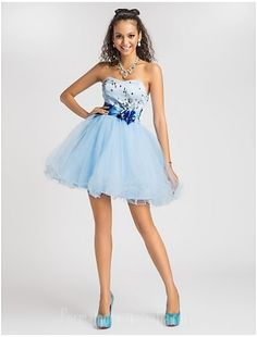 5b92d8af0b9 Australia Cocktail Party Dresses Prom Gowns Sweet 16 Dress Sky Blue Plus  Sizes Dresses Petite Princess Ball Gown A-line Sweetheart Strapless