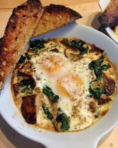 Sandy D'Amato's Shirred Eggs with Creamed Spinach and Mushrooms - JSOnline