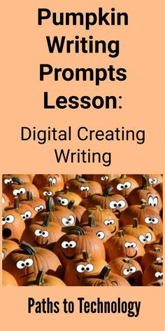 Encourage creative digital writing skills with these pumpkin writing prompts. Writing Prompts 2nd Grade, Kindergarten Writing Prompts, Writing Prompts For Writers, Picture Writing Prompts, Writers Notebook, Cool Writing, Creative Writing, Fun Writing Activities, Powerpoint Lesson