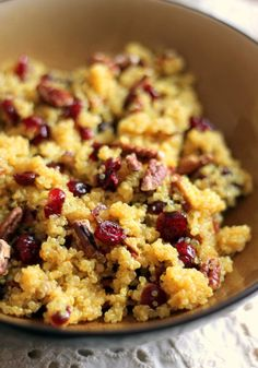 Cranberry Pecan Quinoa Salad with Honey-Orange Dressing - light, lovely and so delicious!