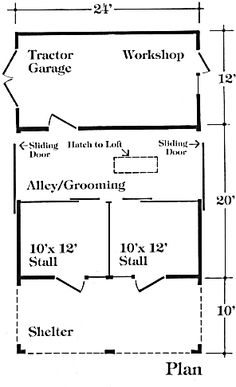 Starlight barn on pinterest horse barns barns and small for 8 stall barn plans