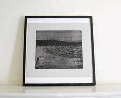 Etching Print/ Minimalist Home Decor Strata 2 in by ElviaPerrin