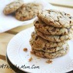 Chocolate Chip Pecan Heath Bar Cookies ~ Money Saving Recipe