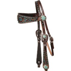 Double J Texas Turquoise Browband Headstall