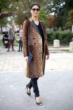 animal print trend street style 2012 - Google Search