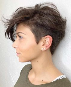 Sassy And Charming Short Pixie Hairstyles In Fall Short Hairstyles;Short Pixie Hairstyles In Fall; : Sassy And Charming Short Pixie Hairstyles In Fall Short Hairstyles;Short Pixie Hairstyles In Fall; Short Hairstyles For Thick Hair, Short Hair Cuts For Women, Wavy Hair, Curly Hair Styles, Short Undercut Hairstyles, Short Hair With Undercut, Short Asymmetrical Hairstyles, Quick Hairstyles, Shaved Undercut