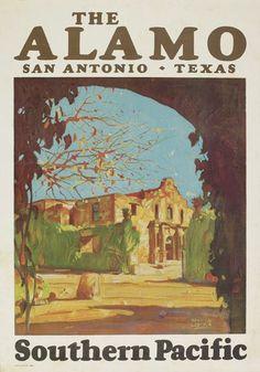 Maynard Dixon (1875-1946) The Alamo / Southern Pacific. 1928