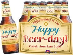 Anagram International Happy BeerDay Balloon 6 Pack 25 Multicolor *** Want additional info? Click on the image.