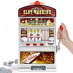 Ein einarmiger Bandit als Geldgeschenk. Verschenken Sie Geld und Glück mit einem Geschenk. Las Vegas lässt grüßen. Verlieren kann man nichts!