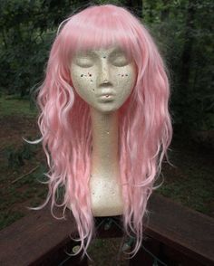 MADE TO ORDER *May take 6-8 weeks to complete ! NEW rushed production upgrade for under 4 weeks production! Select as shipping option at checkout ! NEW international Express Shipping upgrade, received 3-5 days after shipment (customs time may vary). Select as shipping option at checkout This is a standard cap pastel pink dreadlock wig with feathery bangs and an optional assortment of decor including color complementary wraps, beads, hair rings and thick braids. This wig may also be custom...