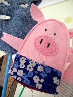 LovePaperFish: Felt Craft....such a cute pig