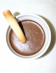 Receta rápida de mousse de chocolate al microondas